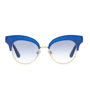Dolce & Gabbana 50mm Blue Gold Cat Eye Sunglasses